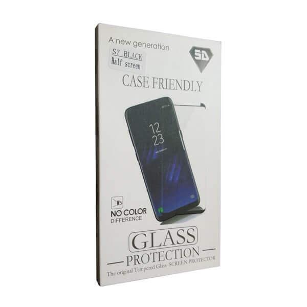 Gehärtetes Glas Displayschoner für SAMSUNG S7 black