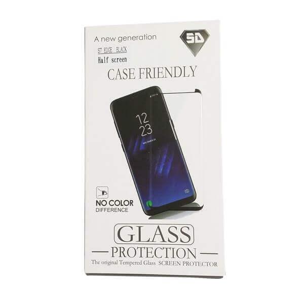 Gehärtetes Glas Displayschoner für SAMSUNG S7 Edge black