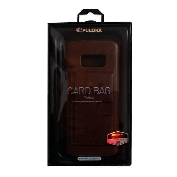 Handy Schutzhülle Card Bag PULOKA für Samsung S8 dunkelbraun