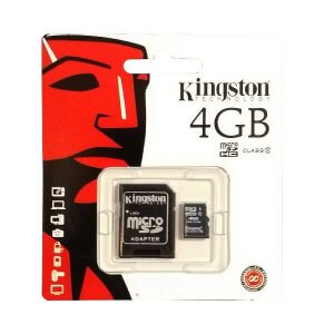 Micro SDXC-Card mit SD-Adapter KINGSTON 4GB