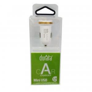 Mini USB Kfz-Ladegerät DURATA weiß